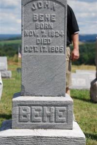 John Behe tombstone