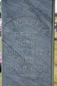 Margaret (McVey) Behe tombstone