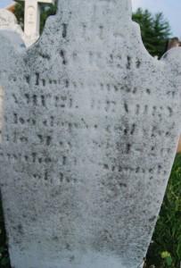 Samuel #2 tombstone